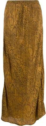Mes Demoiselles python print long skirt