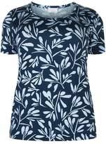 Marina Rinaldi Leaf Print Jersey Top