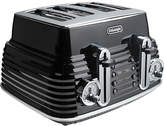 De'Longhi 4 Slice Scultura Toaster - Black