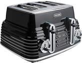 De'Longhi CTZ4003BK 4 Slice Scultura Toaster - Black