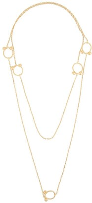 J.W.Anderson Double Ring Embellished Necklace