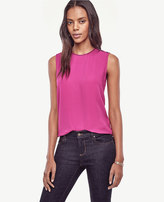 Ann Taylor Petite Shoulder Button Shell