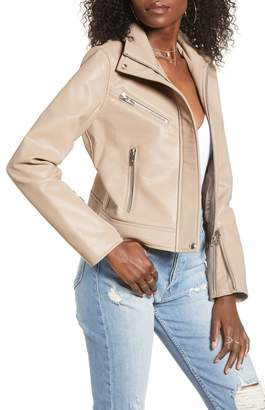 Blank NYC BLANKNYC High Collar Faux Leather Moto Jacket
