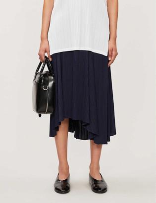 Pleats Please Issey Miyake High-rise pleated plisse midi skirt