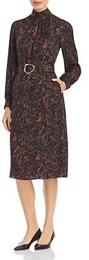 Lafayette 148 New York Giana Marble Print Jacquard Dress