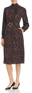 Lafayette 148 New York Giana Marble Print Jacquard Dress