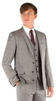 Ben Sherman Grey Heritage Check 2 Button Front Super Slim Fit Camden Suit Jacket