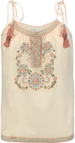Chelsea Flower Embroidered cotton-voile top