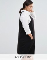 Asos Ponte Pinny Shift Dress