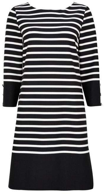 Wallis Black Striped Shift Dress