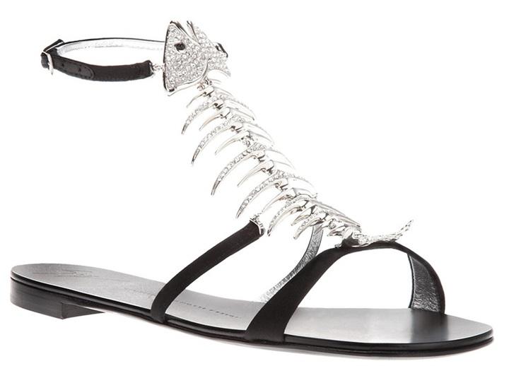 Giuseppe Zanotti Design fish bone sandals