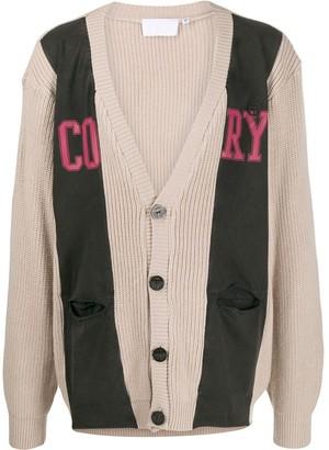 Telfar Cory jersey knit cardigan