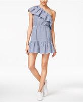 MinkPink Wander Cotton One-Shoulder Dress