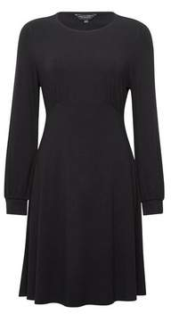 Dorothy Perkins Womens Black Empire Fit And Flare Dress, Black