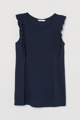 H&M MAMA Ruffled Jersey Top