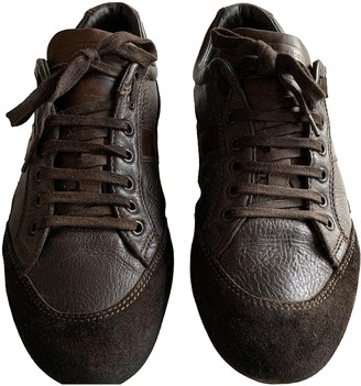 Christian Dior Brown Leather Trainers