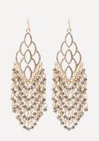 Bebe Beaded Fringe Earrings
