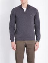 HUGO BOSS Half-zip knitted jumper