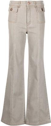 See by Chloe High-Waist Wide-Leg Jeans
