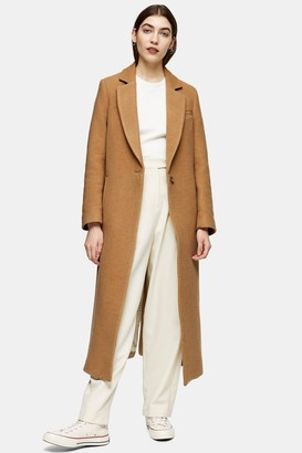 Topshop Womens **Camel Coat By Camel