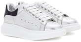 Alexander McQueen Metallic Leather Sneakers