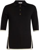 Lanvin Bi-colour wool polo shirt