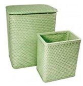 Redmon CHELSEA COLLECTION HAMPER AND MATCHING WASTEBASKET SET 4262SG
