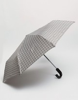Fulton Umbrella In Grey Check