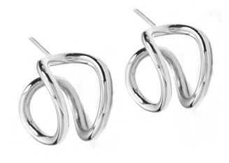 Mvdt Collection Mini Bold Earring Silver