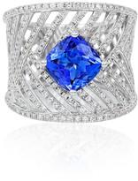 Effy Jewelry Effy Limited Edition 14K White Gold Tanzanite and Diamond Ring, 3.15 TCW