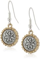 "Nine West VINTAGE AMERICA ""Coin Cantina"" Two-Tone Coin Drop Earrings"