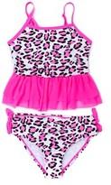 Betsey Johnson Girls' Fuchsia 2pc Swimwear.