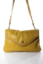 Marc by Marc Jacobs Yellow Leather Gold Tone Turn Lock Flap Shoulder Handbag