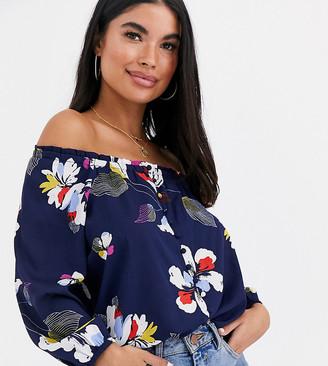 Vero Moda Petite floral off shoulder top