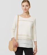 LOFT Lacy Mixed Media Sweater