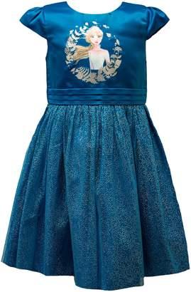 Disney Little Girl's Frozen Pleated Satin Dress
