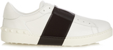 Valentino Open bi-colour low-top leather trainers
