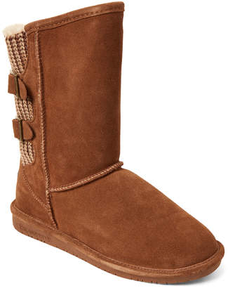 BearPaw Hickory Boshie Real Fur & Suede Boots