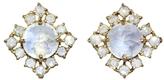 Irene Neuwirth Rainbow Moonstone & Rose Cut Diamond Stud Earrings