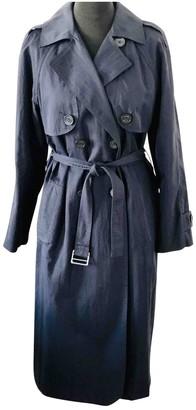 Claudie Pierlot Spring Summer 2019 Navy Cotton Trench coats