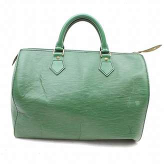 Louis Vuitton Speedy Green Leather Handbags