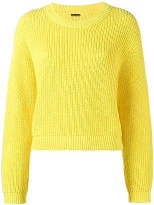 Adam Lippes Cropped Boxy Knitted Jumper