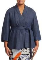 Marina Rinaldi, Plus Size Focus Linen Jacket