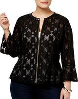 I.N.C International Concepts Plus Lace Peplum Jacket