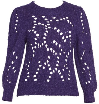 Etoile Isabel Marant Sineady Puff Sleeve Open Knit Pullover