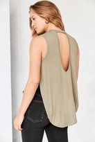 Silence & Noise Silence + Noise Silence + Nosie Liam Cross Over Muscle Tank Top