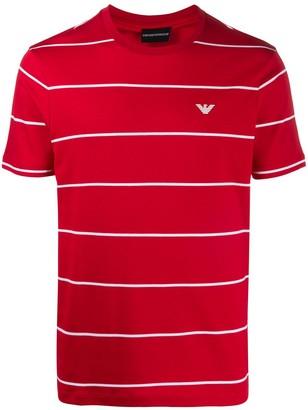 Emporio Armani woven stripe T-shirt