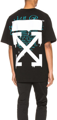 Off-White Dripping Arrows Over Tee in Black & White | FWRD