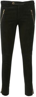 Louis Vuitton Black Suede Trousers