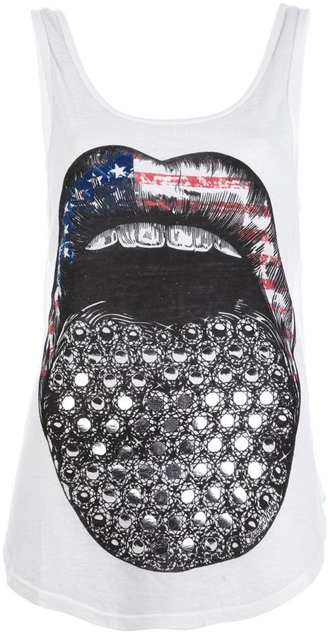 Lauren Moshi tongue print vest